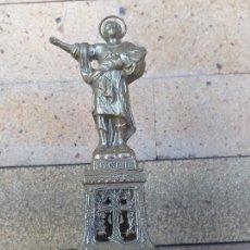 Arte: ANTIGUA FIGURA IMAGEN DE SAN PANCRACIO - REALIZADA EN CALAMINA - PRINCIPIOS SIGLO XX - ALTURA: 15 CM. Lote 278431608