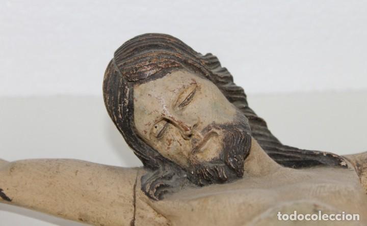 Arte: Cristo gran tamaño en madera tallada y policromada del siglo XIX - Foto 2 - 278681783