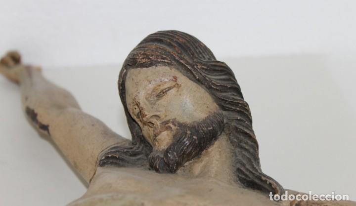 Arte: Cristo gran tamaño en madera tallada y policromada del siglo XIX - Foto 3 - 278681783