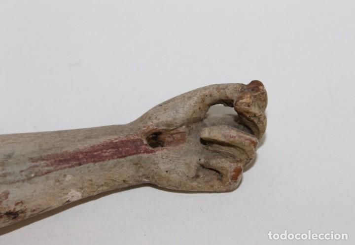 Arte: Cristo gran tamaño en madera tallada y policromada del siglo XIX - Foto 4 - 278681783