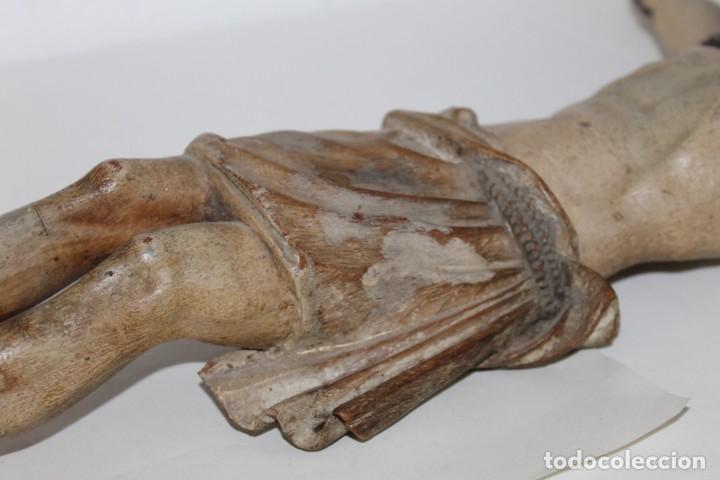 Arte: Cristo gran tamaño en madera tallada y policromada del siglo XIX - Foto 8 - 278681783