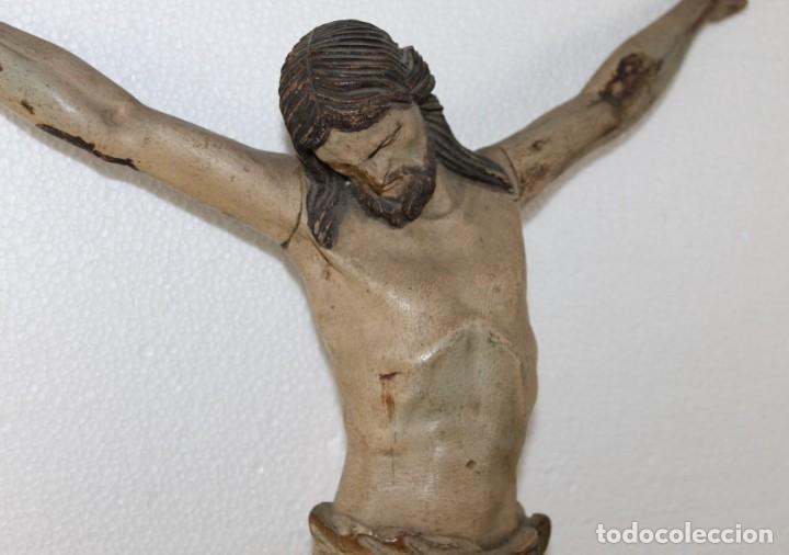 Arte: Cristo gran tamaño en madera tallada y policromada del siglo XIX - Foto 9 - 278681783
