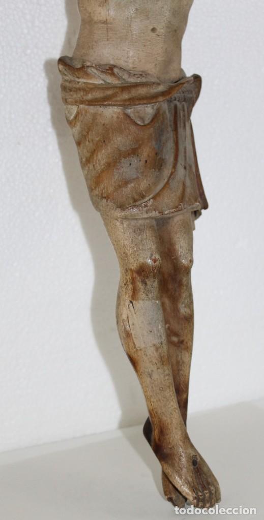 Arte: Cristo gran tamaño en madera tallada y policromada del siglo XIX - Foto 10 - 278681783
