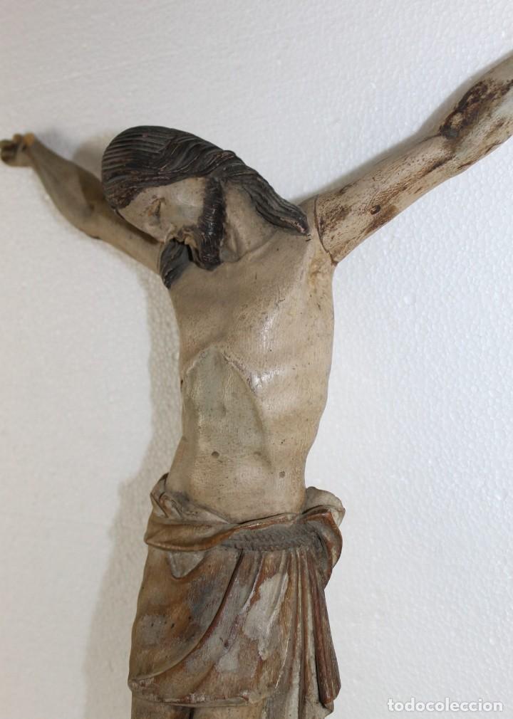 Arte: Cristo gran tamaño en madera tallada y policromada del siglo XIX - Foto 12 - 278681783