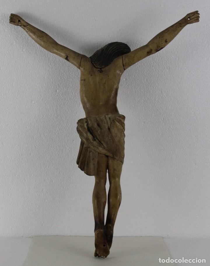 Arte: Cristo gran tamaño en madera tallada y policromada del siglo XIX - Foto 14 - 278681783