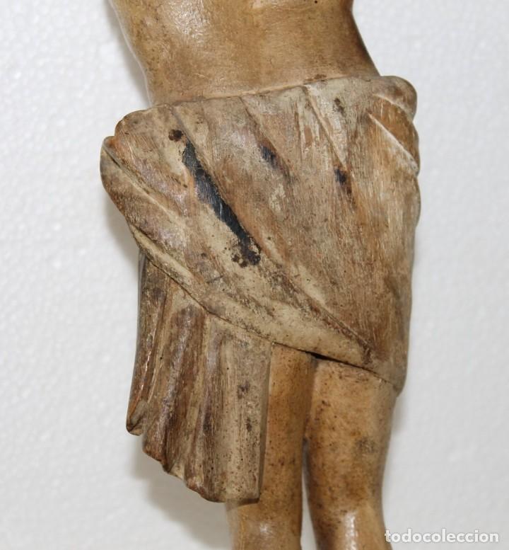 Arte: Cristo gran tamaño en madera tallada y policromada del siglo XIX - Foto 15 - 278681783