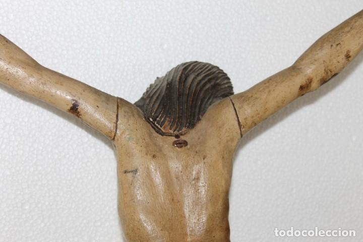 Arte: Cristo gran tamaño en madera tallada y policromada del siglo XIX - Foto 16 - 278681783