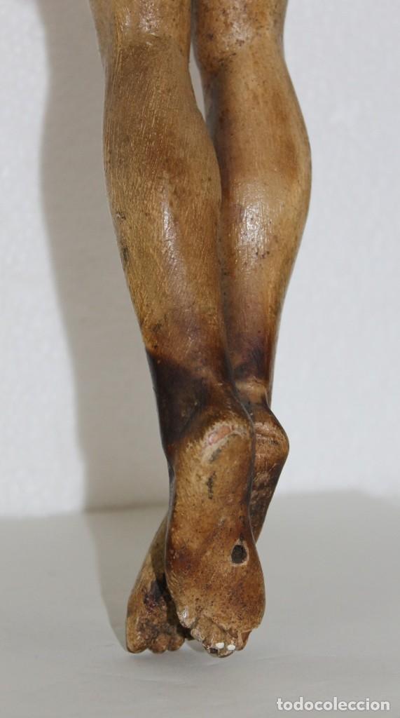 Arte: Cristo gran tamaño en madera tallada y policromada del siglo XIX - Foto 18 - 278681783