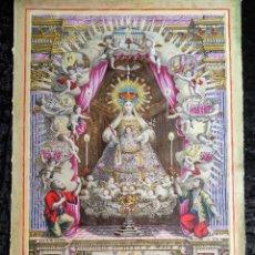 Arte: 1787 - GRABADO ILUMINADO Y CON DORADOS - VIRGEN DE LA MERCED - VISTA DE BARCELONA - DE MUSEO. Lote 279349668