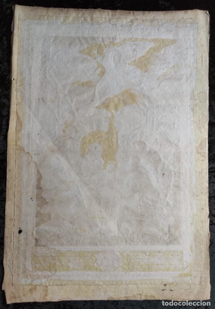 Arte: RARO Y UNICO GRABADO ILUMINADO ADORACION NIÑO JESUS - S.VIII - BARCELONA - Foto 11 - 279351583