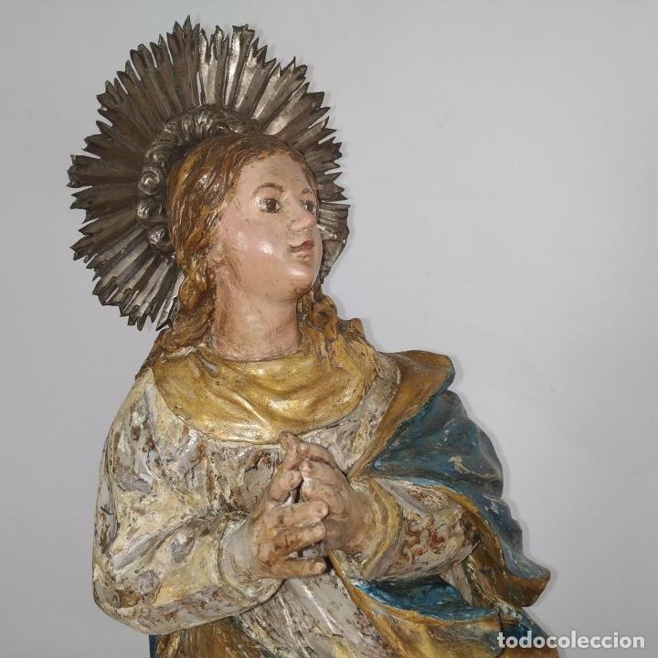 Arte: INMACULADA. SEGUIDOR DE ALONSO CANO. MADERA TALLADA Y POLICROMADA. SIGLO XVII-XVIII - Foto 7 - 279353093