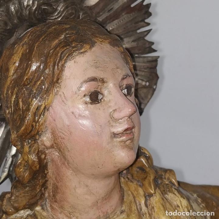 Arte: INMACULADA. SEGUIDOR DE ALONSO CANO. MADERA TALLADA Y POLICROMADA. SIGLO XVII-XVIII - Foto 10 - 279353093