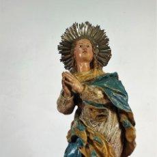 Arte: INMACULADA. SEGUIDOR DE ALONSO CANO. MADERA TALLADA Y POLICROMADA. SIGLO XVII-XVIII. Lote 279353093