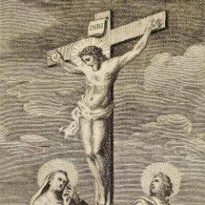 Arte: 2 ESTAMPAS RELIGIOSAS. AGUSTÍ SELLENT. GRABADO SOBRE PAPEL. ESPAÑA. XVIII-XIX. Lote 279415123