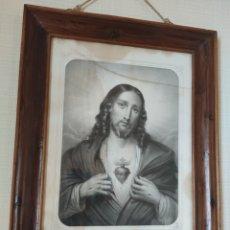 Arte: LITOGRAFÍA SAGRADO CORAZÓN DE JESÚS. TURGIS PARIS. SIGLO XIX. Lote 279506618