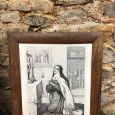 Arte: LITOGRAFÍA SANTA TERESA DE JESÚS. TURGIS PARIS SIGLO XIX. Lote 279515278