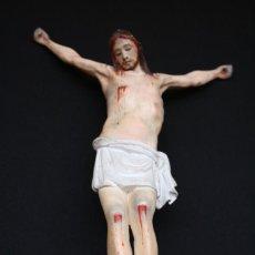 Arte: ANTIGUO CRISTO ISABELINO EN MADERA TALLADA Y POLICROMADA. PRECIOSO.. Lote 280109978