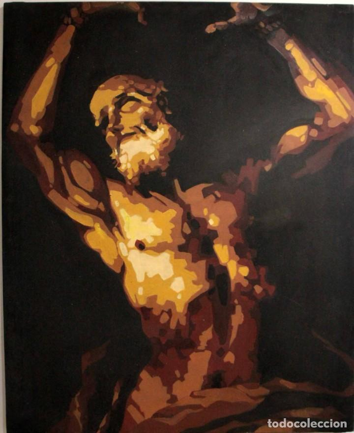 SAN BARTOLOMÉ EN EL MARTIRIO, REINTERPRETACIÓN DE LA OBRA DE JOSÉ DE RIBERA. 100X81CM (Arte - Arte Religioso - Pintura Religiosa - Oleo)