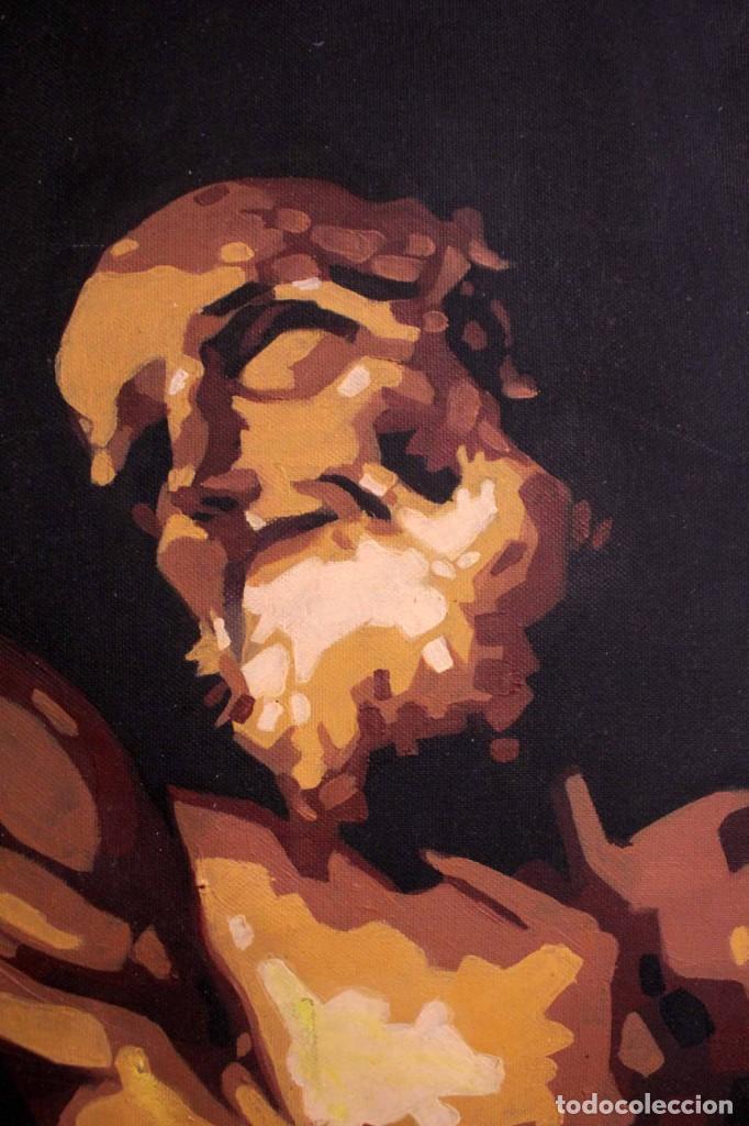 Arte: San Bartolomé en el martirio, reinterpretación de la obra de José de Ribera. 100x81cm - Foto 4 - 281919788
