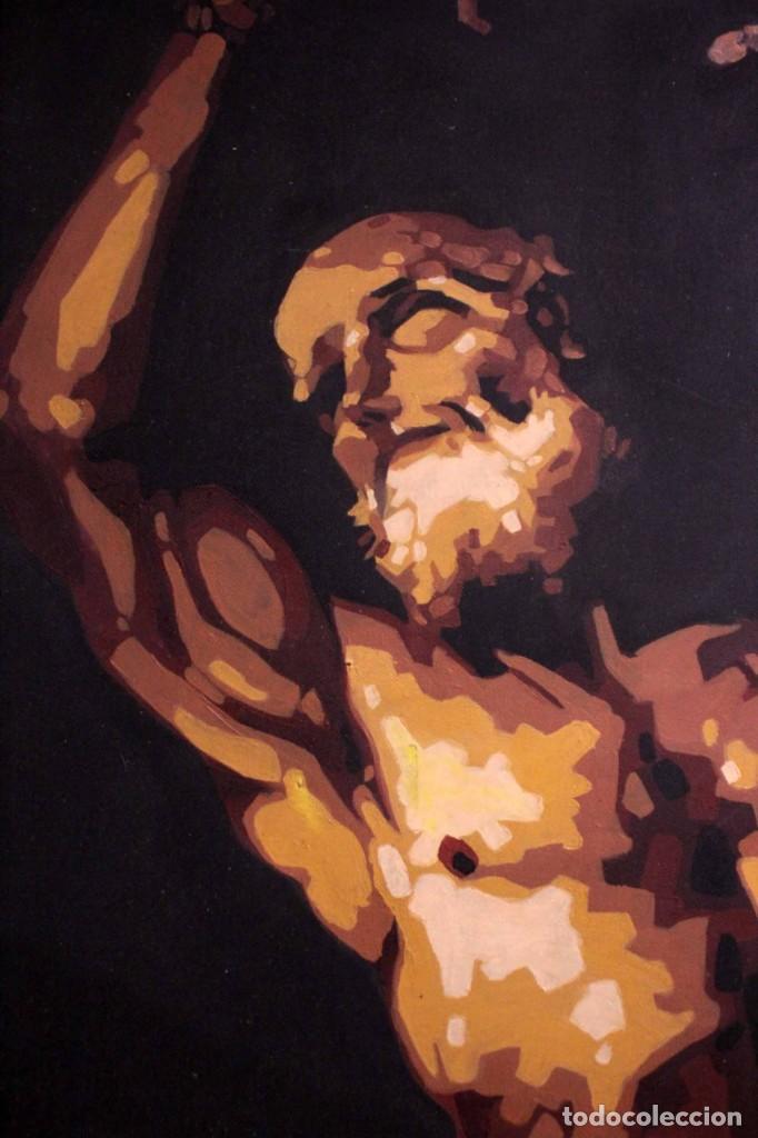 Arte: San Bartolomé en el martirio, reinterpretación de la obra de José de Ribera. 100x81cm - Foto 5 - 281919788