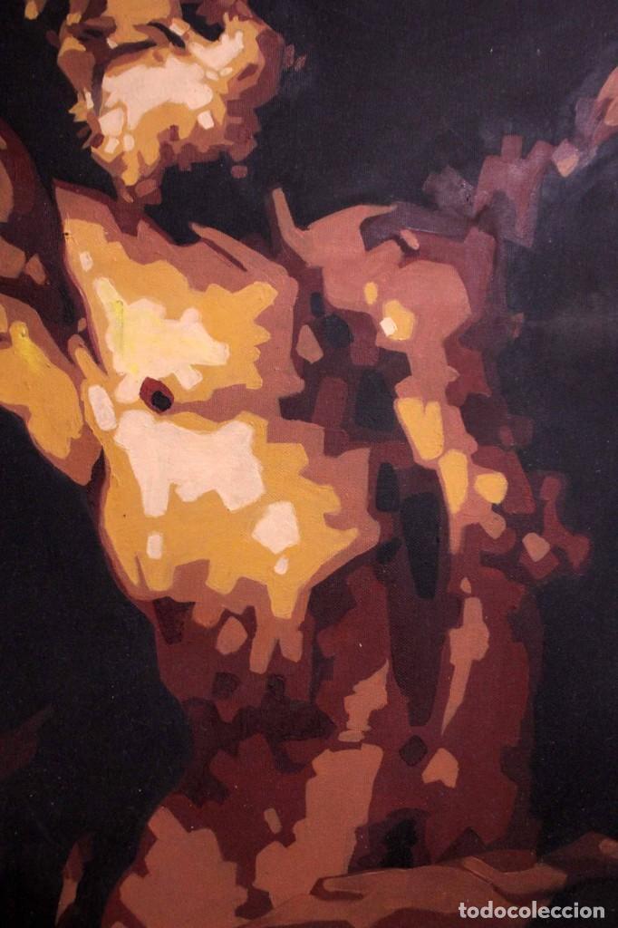 Arte: San Bartolomé en el martirio, reinterpretación de la obra de José de Ribera. 100x81cm - Foto 6 - 281919788