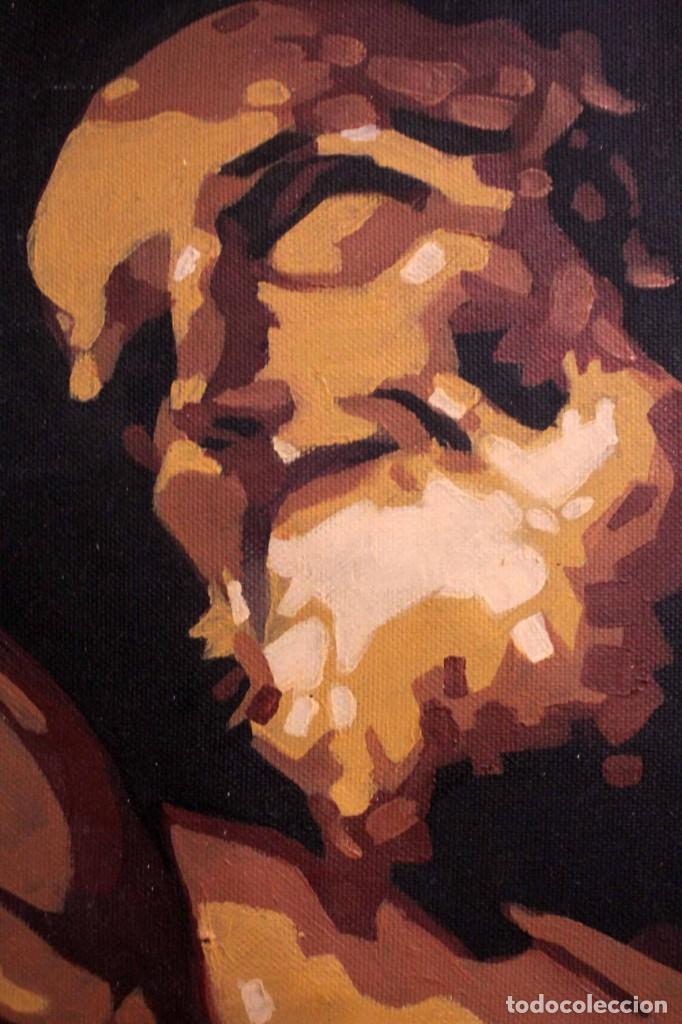 Arte: San Bartolomé en el martirio, reinterpretación de la obra de José de Ribera. 100x81cm - Foto 7 - 281919788