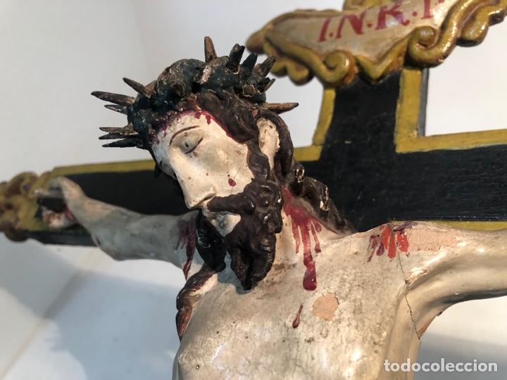 Arte: BONITA CRUZ Y CRISTO DE TALLA MADERA ANTIGUO. CIRCA SIGLO XVIII. - Foto 3 - 282211623