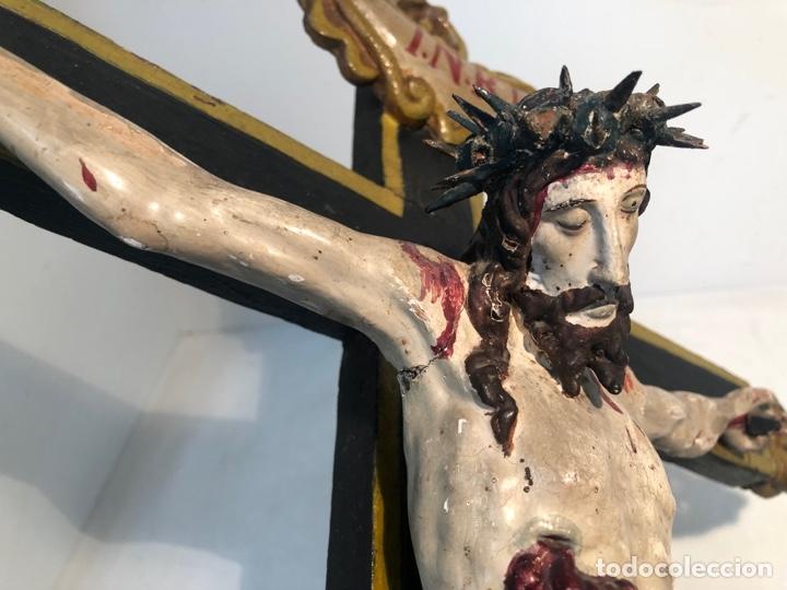 Arte: BONITA CRUZ Y CRISTO DE TALLA MADERA ANTIGUO. CIRCA SIGLO XVIII. - Foto 4 - 282211623