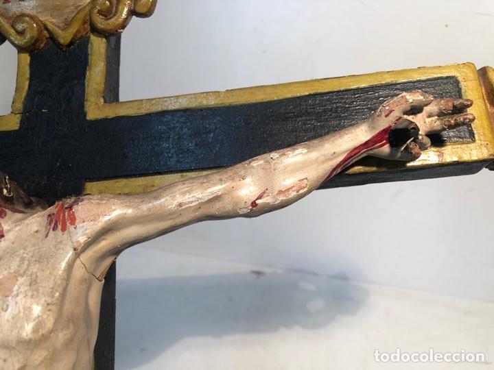 Arte: BONITA CRUZ Y CRISTO DE TALLA MADERA ANTIGUO. CIRCA SIGLO XVIII. - Foto 7 - 282211623