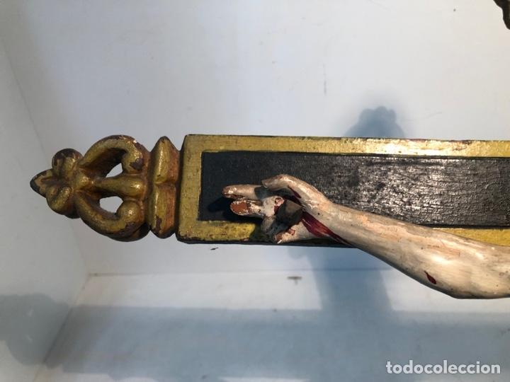 Arte: BONITA CRUZ Y CRISTO DE TALLA MADERA ANTIGUO. CIRCA SIGLO XVIII. - Foto 12 - 282211623
