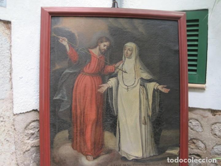 CUADRO. ÓLEO SOBRE LIENZO. SIGLO XVII-XVIII. MEDIDAS ÓLEO: 103X84 CON MARCO 116X97 (Arte - Arte Religioso - Pintura Religiosa - Oleo)