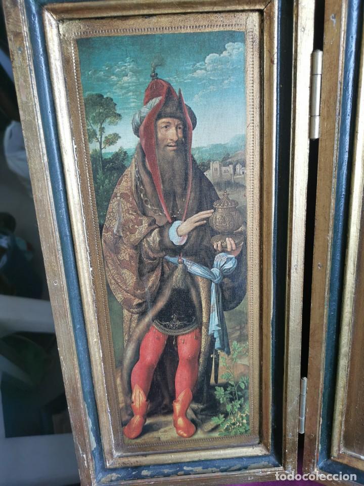 Arte: tríptico Joos Van Cleve. 1500. Años 60.Leer bien el anuncio - Foto 2 - 283688248