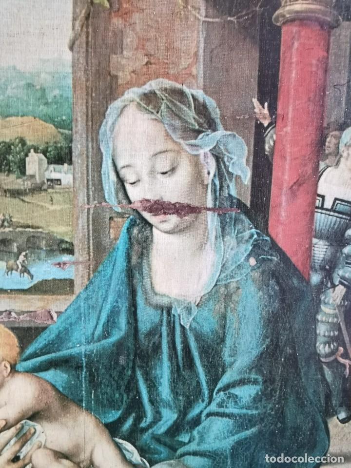 Arte: tríptico Joos Van Cleve. 1500. Años 60.Leer bien el anuncio - Foto 3 - 283688248
