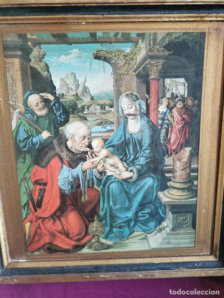Arte: tríptico Joos Van Cleve. 1500. Años 60.Leer bien el anuncio - Foto 4 - 283688248