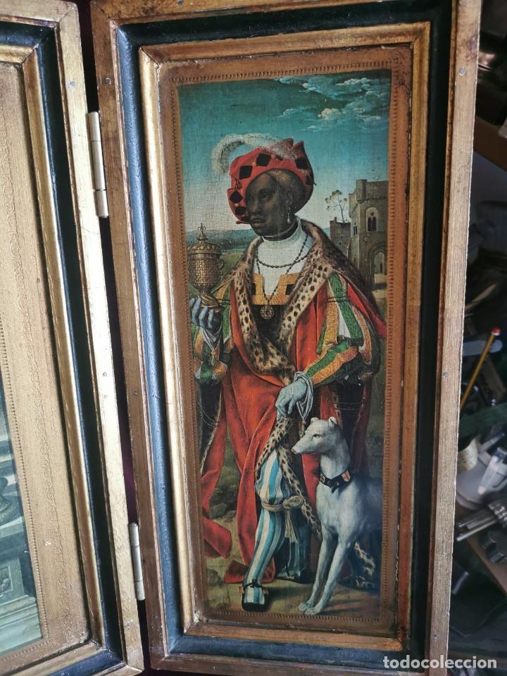 Arte: tríptico Joos Van Cleve. 1500. Años 60.Leer bien el anuncio - Foto 8 - 283688248