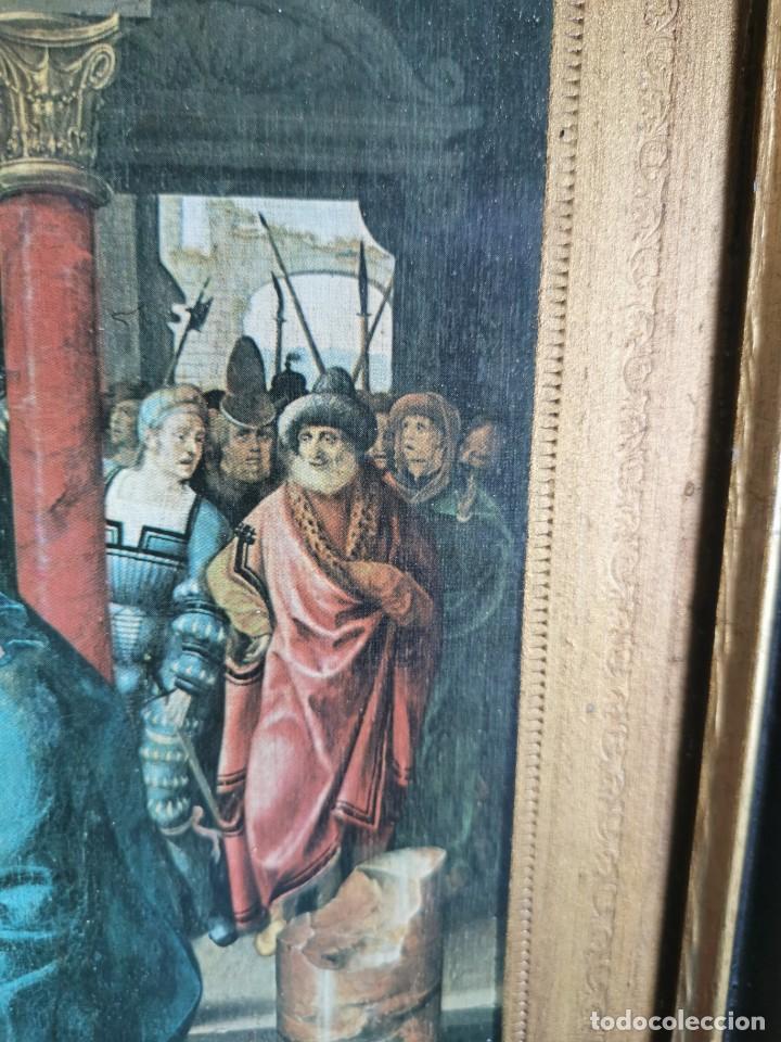 Arte: tríptico Joos Van Cleve. 1500. Años 60.Leer bien el anuncio - Foto 10 - 283688248