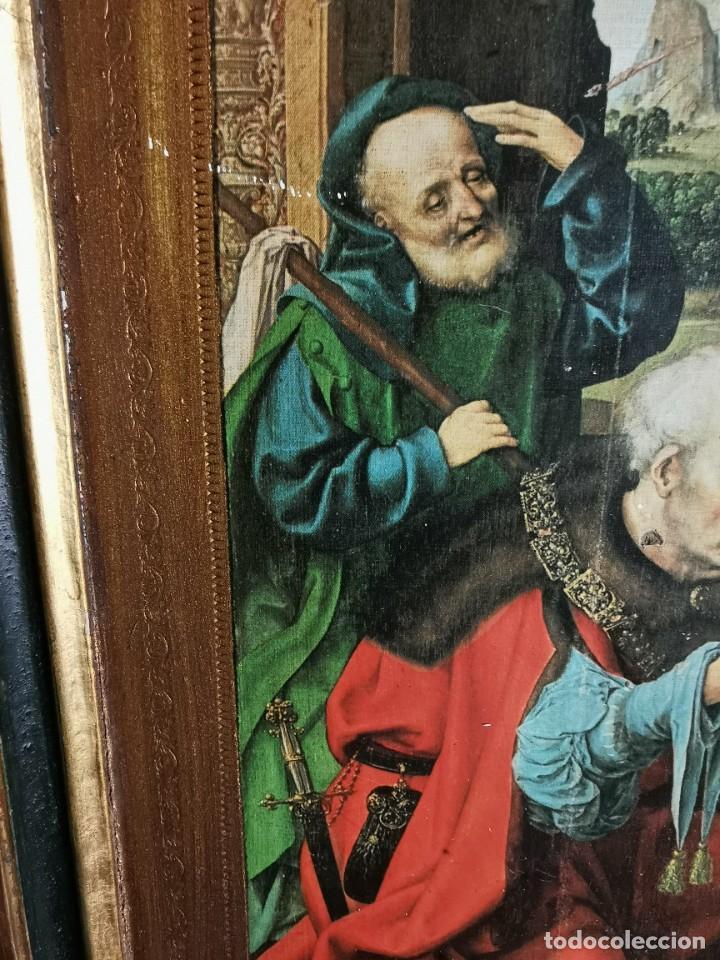 Arte: tríptico Joos Van Cleve. 1500. Años 60.Leer bien el anuncio - Foto 12 - 283688248