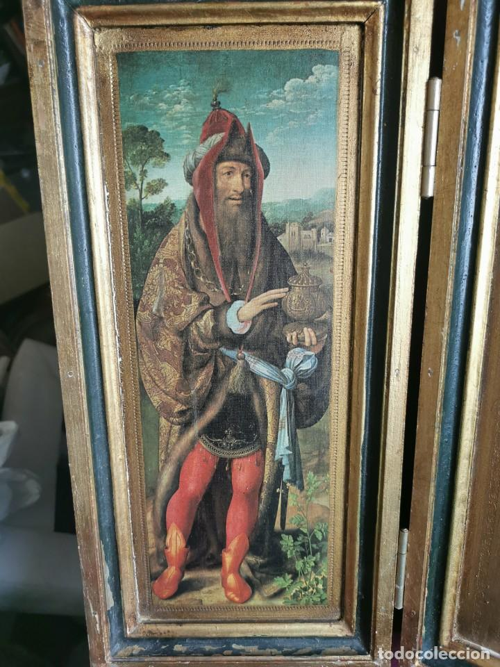 Arte: tríptico Joos Van Cleve. 1500. Años 60.Leer bien el anuncio - Foto 13 - 283688248
