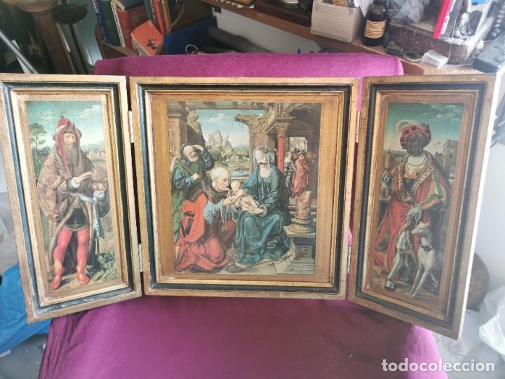 TRÍPTICO JOOS VAN CLEVE. 1500. AÑOS 60.LEER BIEN EL ANUNCIO (Arte - Arte Religioso - Trípticos)