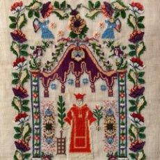 Arte: MARAVILLOSO BORDADO DE SAN LORENZO, S. XIX, 1880, 94 X 64. Lote 283767958