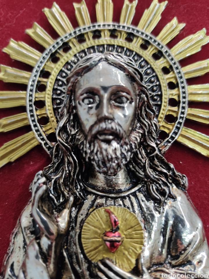 Arte: GRAN RETABLO DE MADERA CON ICONOS BIZANTINOS Y SAGRADO CORAZON DE JESUS Rara pieza de Coleccionismo - Foto 17 - 283785403