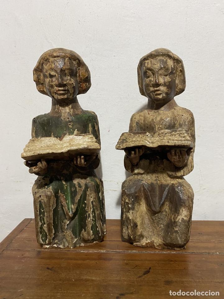 ÁNGELES DE ALTAR, ALTA ÉPOCA, SIGLO XIII. (Arte - Arte Religioso - Escultura)