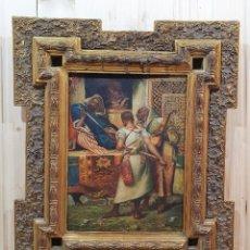 Arte: OLEO RELIGIOSO SOBRE TABLA. Lote 283163593