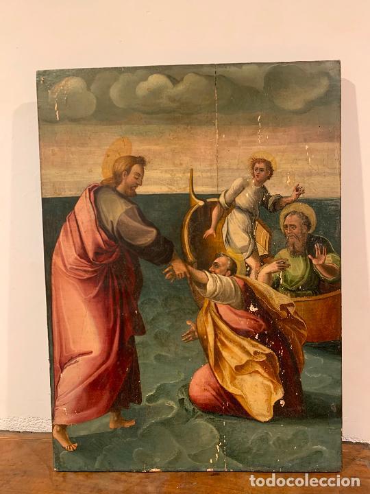 Arte: Retablo religioso de madera xvi-xvii - Foto 4 - 285149333