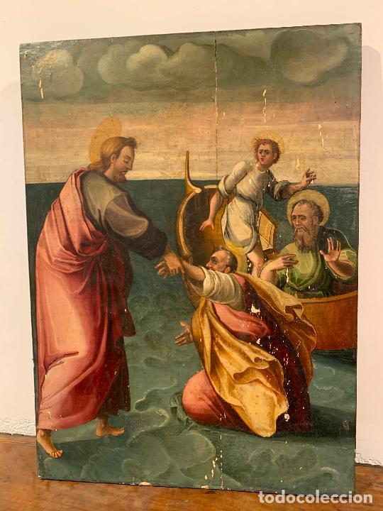 Arte: Retablo religioso de madera xvi-xvii - Foto 8 - 285149333