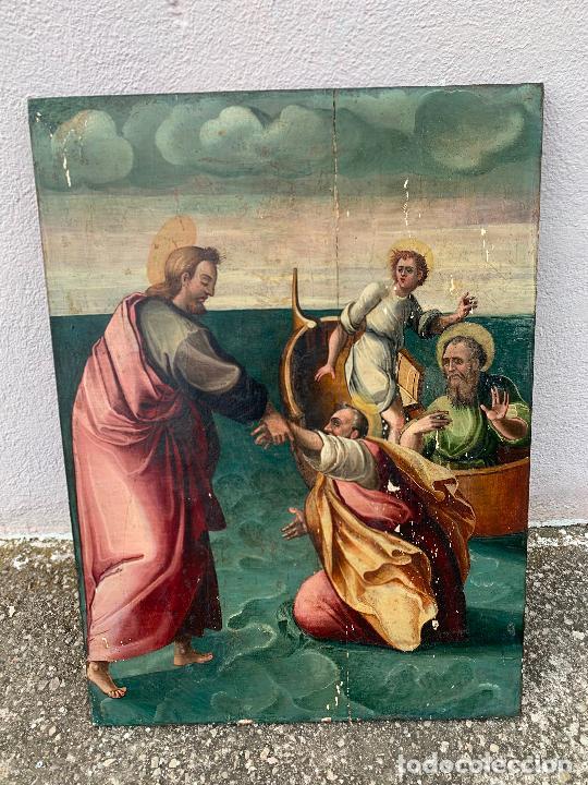 Arte: Retablo religioso de madera xvi-xvii - Foto 11 - 285149333