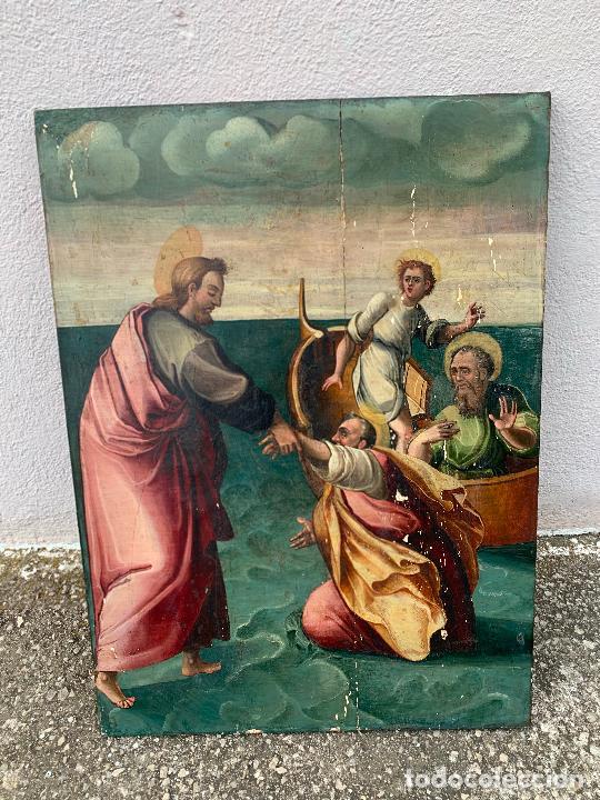 Arte: Retablo religioso de madera xvi-xvii - Foto 12 - 285149333