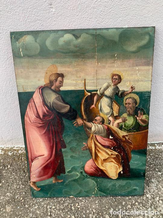 Arte: Retablo religioso de madera xvi-xvii - Foto 16 - 285149333