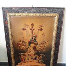 Arte: CUADRO Y ANTIGUA LAMINA DE LA VIRGEN MARIA CARIDAD CARTAGENA - INDULGENCIAS VIRGEN DOLORES. Lote 285469448