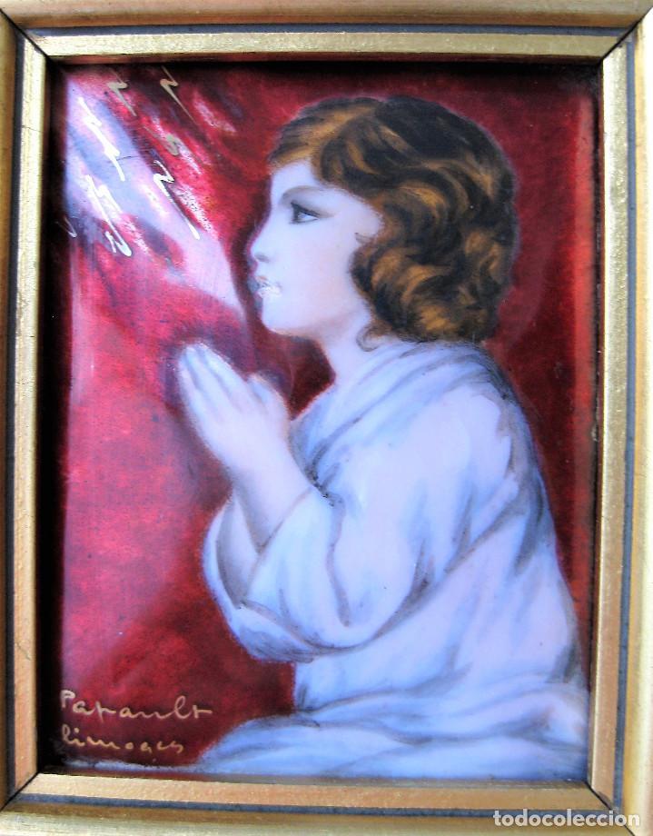 Arte: MAGNÍFICO PINTURA SOBRE COBRE DE LIMOGES, ESMALTADA FIRMADA POR GEORGES PAPAULT TODO HECHO A MANO - Foto 3 - 285664663